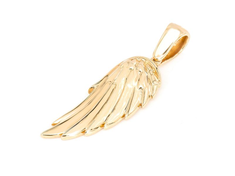 Feather Wing Pendant 14K   Plain