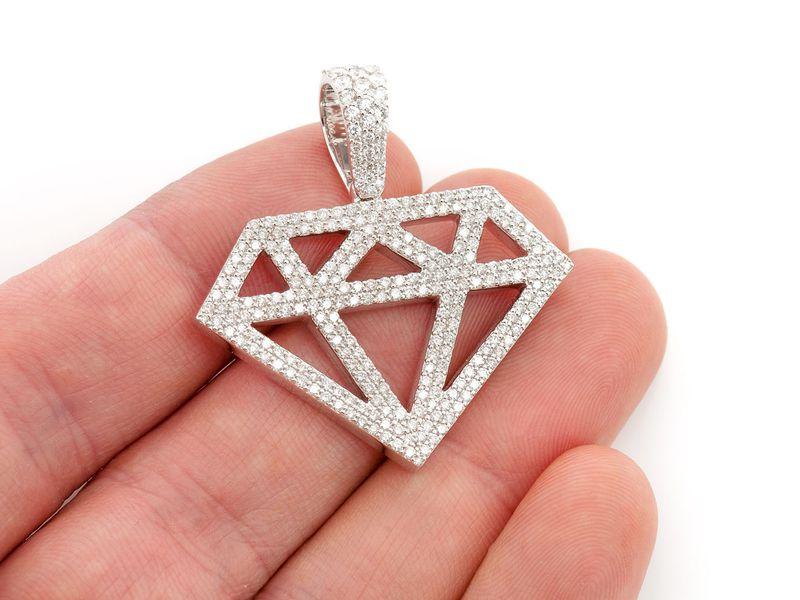 Diamond Silhouette Pendant 14K   2.49ctw