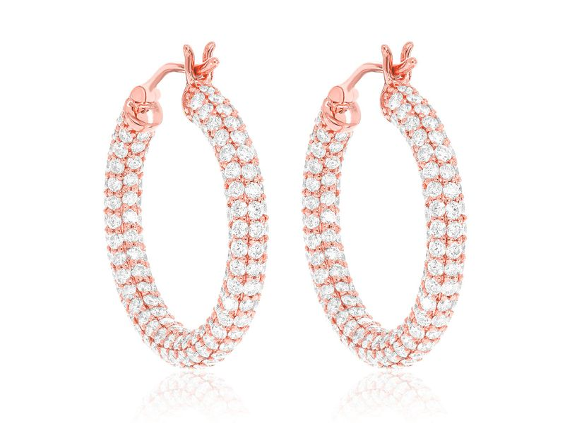 Large Pipe Bubbly Huggie Hoops Earrings 14K   6g