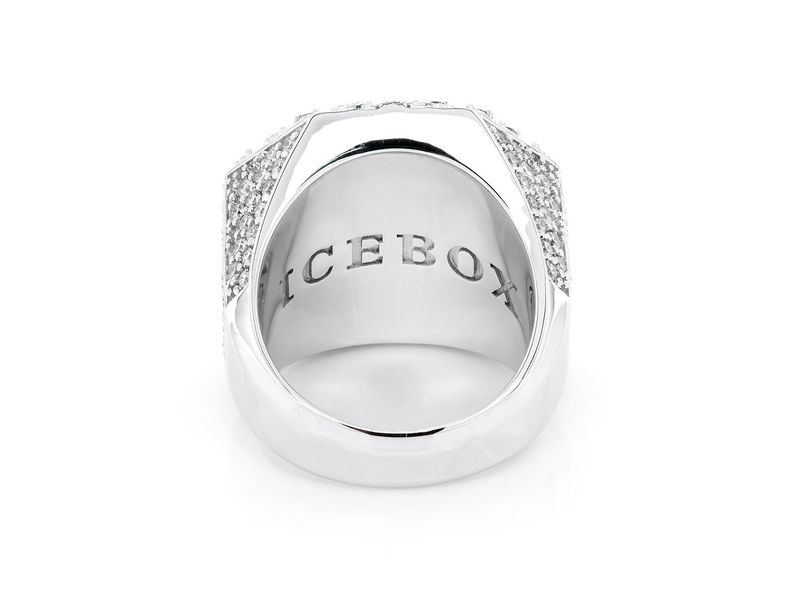 Multi Halo Diamond Signet Ring 14K   4.41ctw