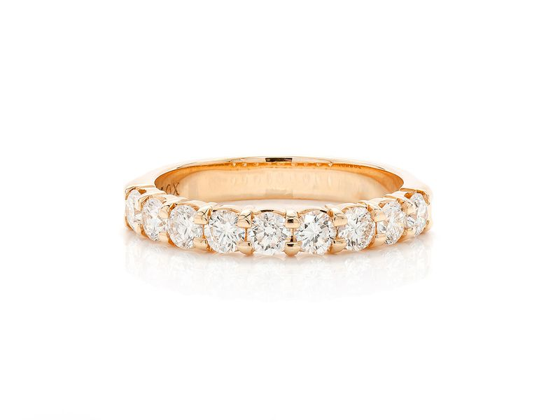 Nine Stone Ring 18K   0.99ctw