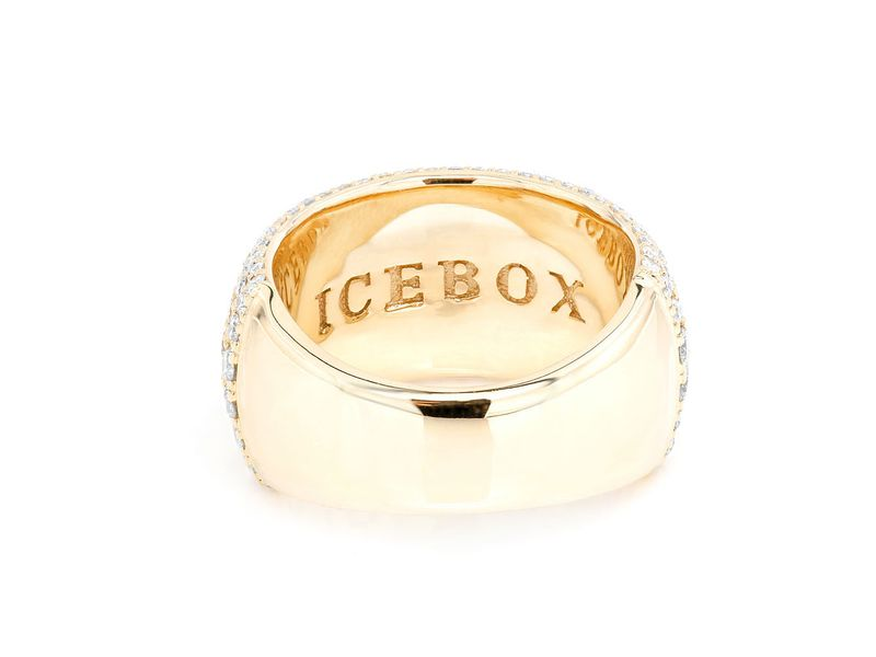 Wide Bumble Band Ring 14K   3.36ctw