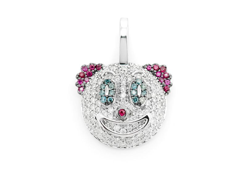 Clown Face Emoji Pendant 14K   0.75ctw