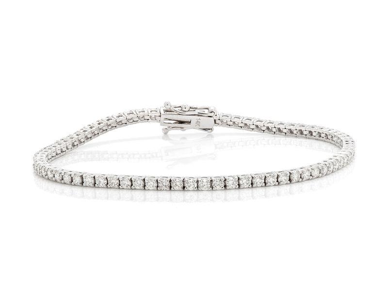Tennis Bracelet 14K   2.62ctw