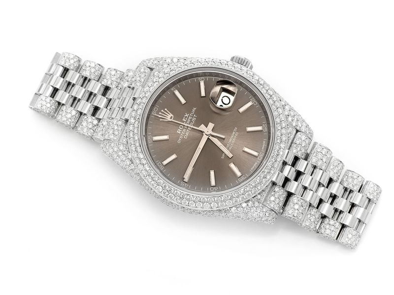 Pre-owned Rolex Datejust 41mm SS  14.33ctw