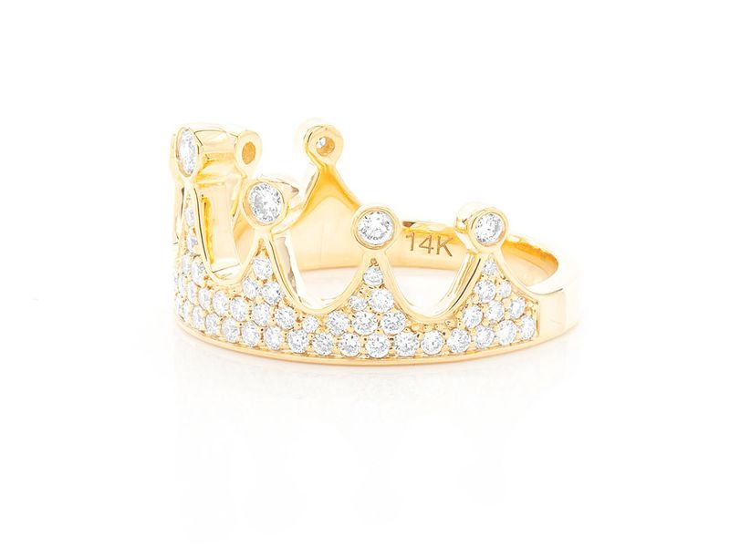 Crown Ring 14K   0.90ctw