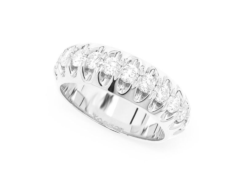 Pyramid Set Ring 14K   1.26ctw