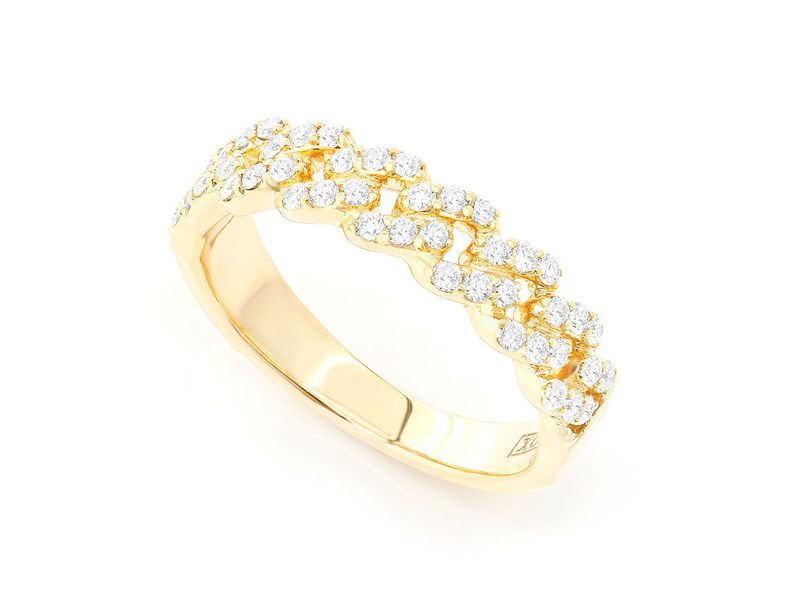 Cuban Ring 14K   0.57ctw