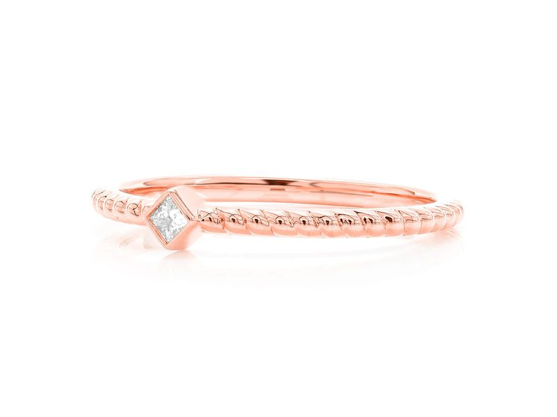 Princess Rope Bezel Betty Collection Ring 14K   0.04ctw