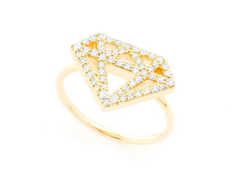 Diamond Silhouette Ring 14K   0.34ctw
