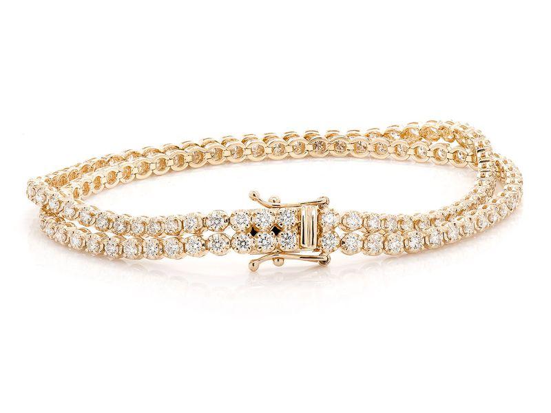 Diamond Bracelet 14K   4.04ctw