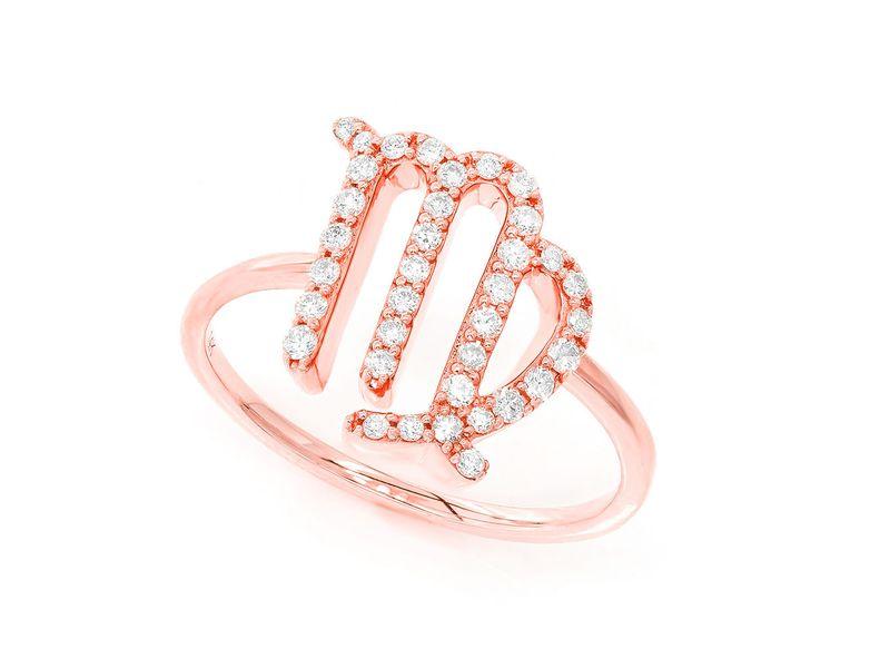 Virgo Zodiac Ring 14K   0.13ctw