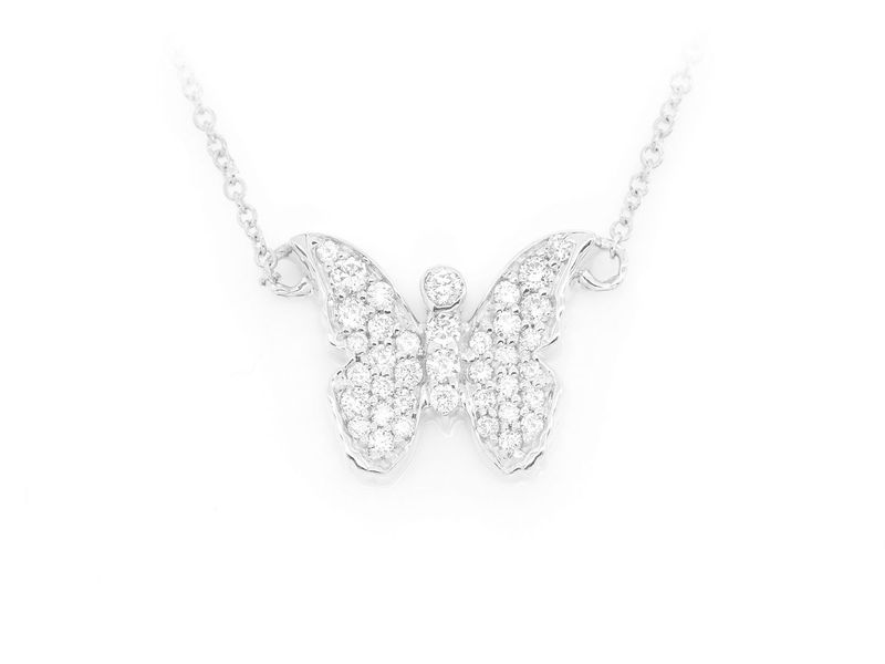 Butterfly Emoji Mica Collection Pendant 14K   0.21ctw