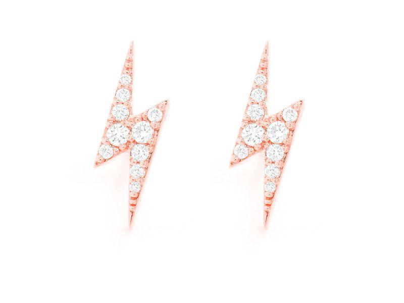 Lightning Bolt Earrings 14K   0.29ctw