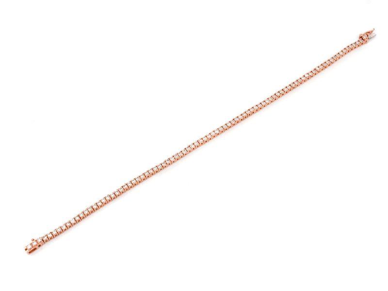 2Pt Prong Set Bracelet 14K   1.48ctw