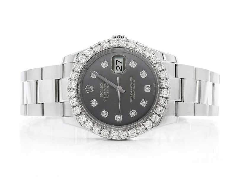 Rolex Datejust 3.72ctw Steel