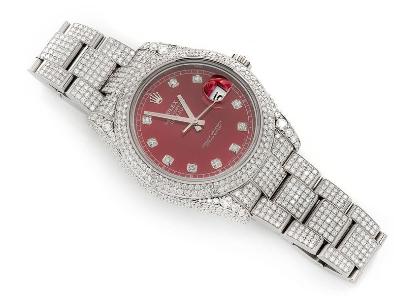 Pre-owned Rolex Datejust 41MM St.Steel  16.54ctw