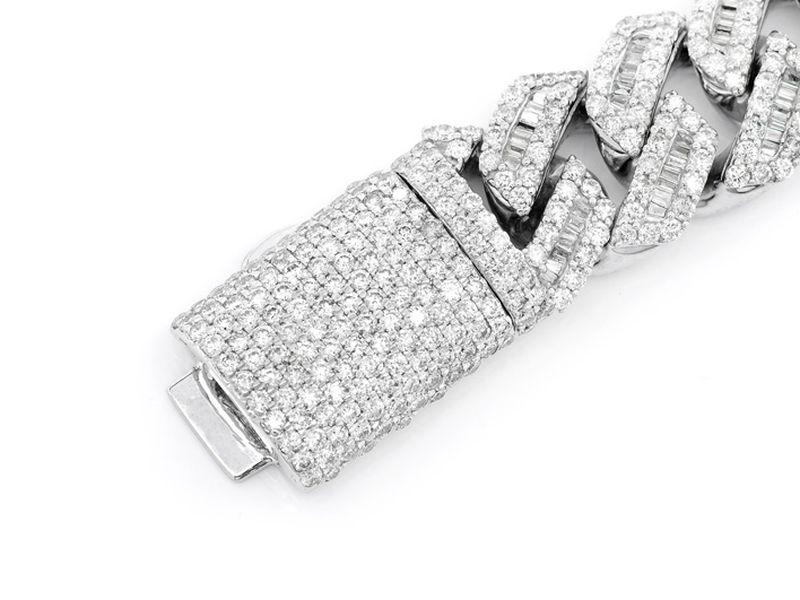 Diamond Baguette Cuban Bracelet 14K   17.88ctw