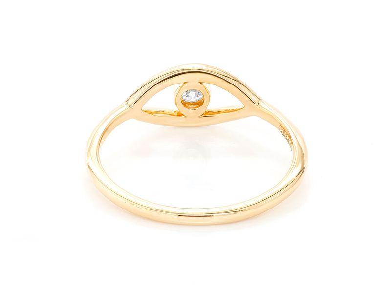 Plain Evil Eye Ring 14K   0.07ctw