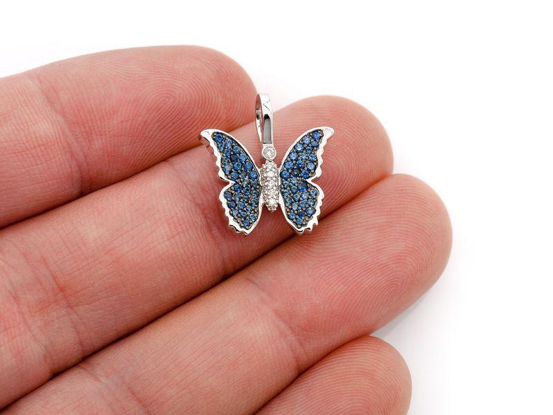 Butterfly  Pendant 14K   0.49ctw