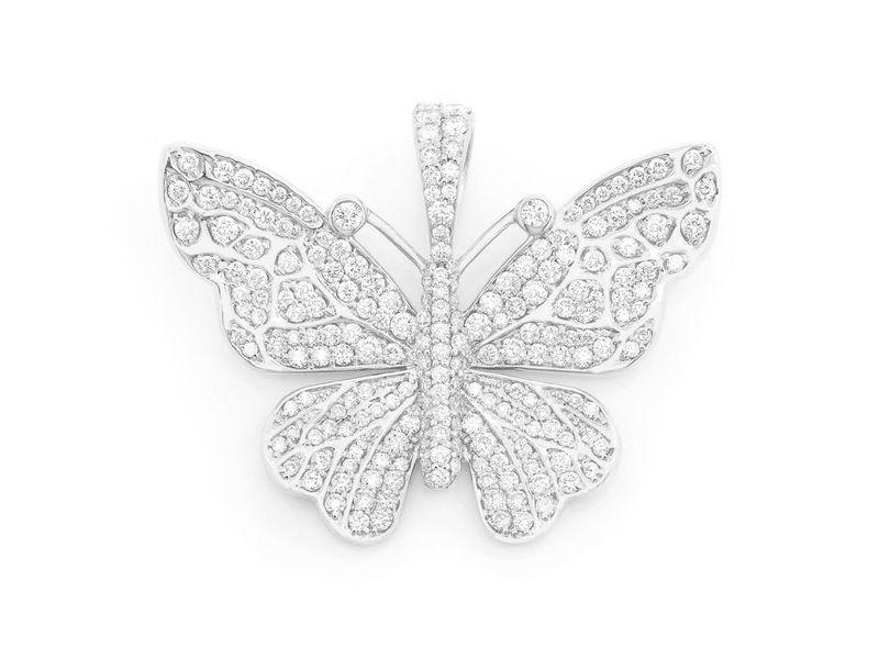Faye Butterfly Pendant 14K   2.00ctw