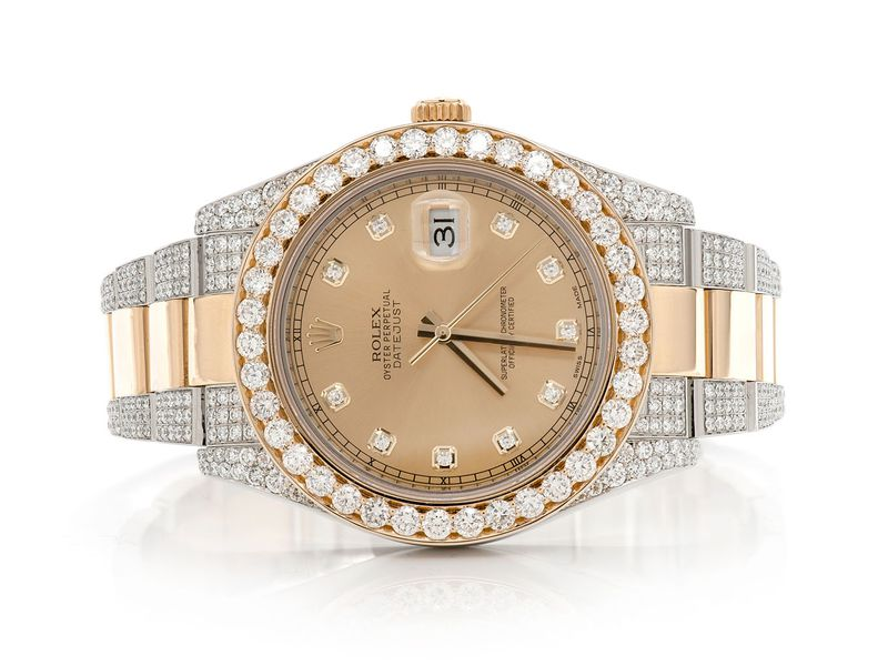 Pre-owned Rolex Datejust 2 41mm 18K/SS  9.27ctw